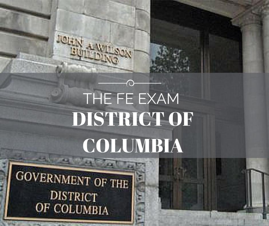 FE Exam District of Columbia