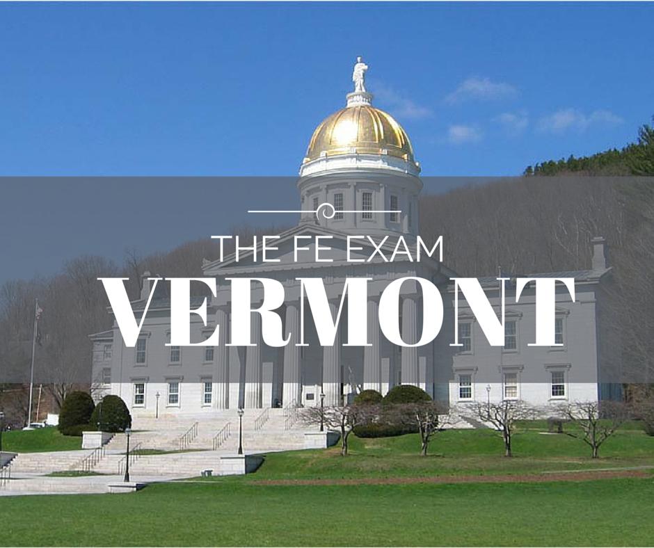 FE Exam Vermont