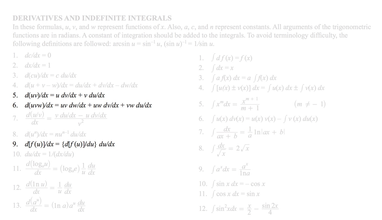 Chain Rule For Derivatives FE Exam Section Highlighted